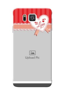 Samsung Galaxy Alpha G850 Red Pattern Mobile Cover Design