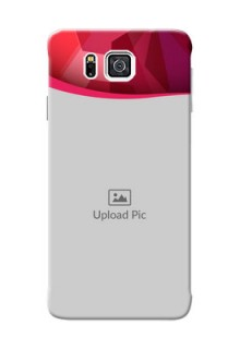 Samsung Galaxy Alpha G850 Red Abstract Mobile Case Design