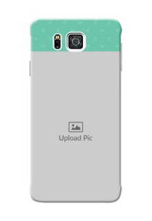 Samsung Galaxy Alpha G850 Lovers Picture Upload Mobile Cover Design