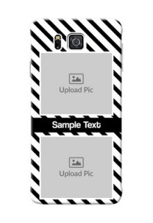 Samsung Galaxy Alpha G850 2 image holder with black and white stripes Design