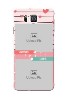 Samsung Galaxy Alpha G850 2 image holder with hearts Design