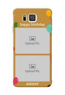 Samsung Galaxy Alpha G850 2 image holder with birthday celebrations Design