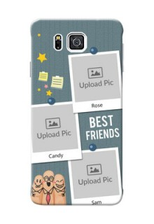 Samsung Galaxy Alpha G850 3 image holder with sticky frames and friendship day wishes Design