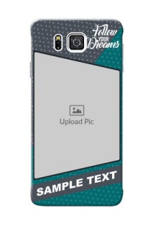 Samsung Galaxy Alpha G850 2 colour background with different patterns and dreams quote Design