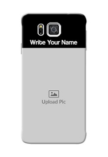 Galaxy Alpha G850 Photo with Name on Phone Case