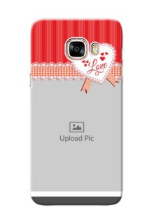 Samsung Galaxy C5 Pro Red Pattern Mobile Cover Design