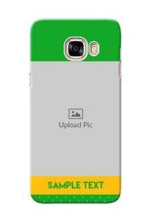 Samsung Galaxy C5 Pro Green And Yellow Pattern Mobile Cover Design