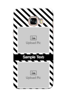 Samsung Galaxy C5 Pro 2 image holder with black and white stripes Design