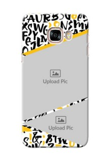 Samsung Galaxy C5 Pro 2 image holder with letters pattern  Design