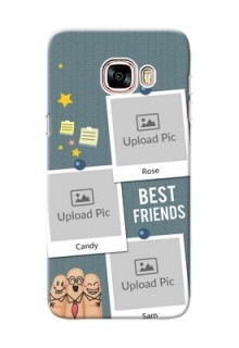 Samsung Galaxy C5 Pro 3 image holder with sticky frames and friendship day wishes Design