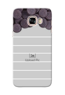 Samsung Galaxy C5 Pro oreo biscuit pattern with white stripes Design Design