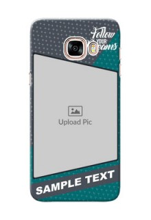 Samsung Galaxy C5 Pro 2 colour background with different patterns and dreams quote Design Design