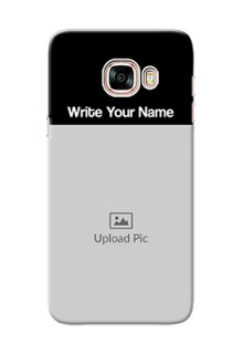 Galaxy C5 Pro Photo with Name on Phone Case
