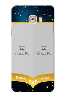 Samsung Galaxy C7 Pro 2 image holder with galaxy backdrop and stars  Design
