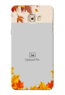 Samsung Galaxy C7 Pro autumn maple leaves backdrop Design