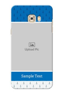 Samsung Galaxy C7 Blue Anchors Mobile Case Design