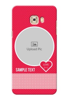 Samsung Galaxy C7 Pink Design Pattern Mobile Case Design