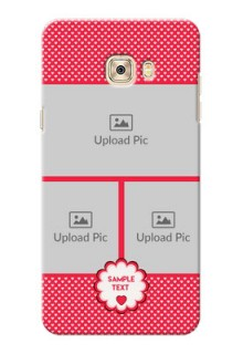 Samsung Galaxy C7 Bulk Photos Upload Mobile Cover  Design