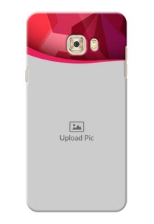 Samsung Galaxy C7 Red Abstract Mobile Case Design