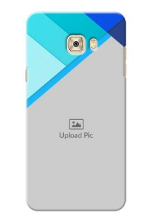 Samsung Galaxy C7 Blue Abstract Mobile Cover Design