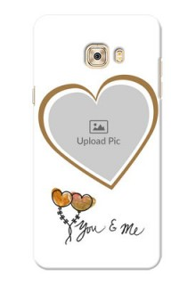 Samsung Galaxy C7 You And Me Mobile Back Case Design