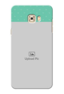 Samsung Galaxy C7 Lovers Picture Upload Mobile Cover Design