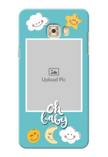 Samsung Galaxy C7 kids frame with smileys and stars Design