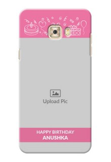 Samsung Galaxy C7 plain birthday line arts Design