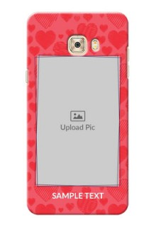 Samsung Galaxy C7 multiple hearts symbols Design