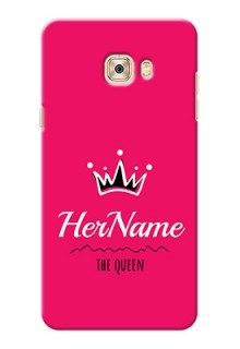Galaxy C7 Queen Phone Case with Name