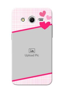 Samsung Galaxy Core 2 Pink Design With Pattern Mobile Cover Design