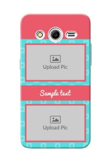 Samsung Galaxy Core 2 Pink And Blue Pattern Mobile Case Design