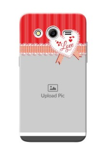 Samsung Galaxy Core 2 Red Pattern Mobile Cover Design