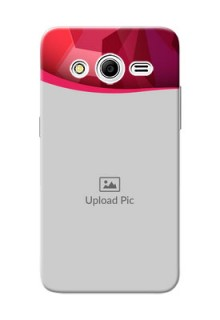 Samsung Galaxy Core 2 Red Abstract Mobile Case Design