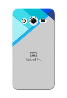Samsung Galaxy Core 2 Blue Abstract Mobile Cover Design