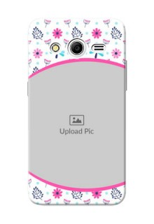 Samsung Galaxy Core 2 Colourful Flowers Mobile Cover Design