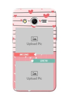 Samsung Galaxy Core 2 2 image holder with hearts Design