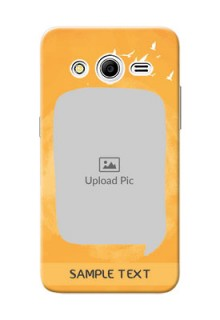 Samsung Galaxy Core 2 watercolour design with bird icons and sample text Design Design