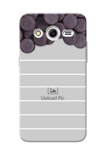 Samsung Galaxy Core 2 oreo biscuit pattern with white stripes Design Design