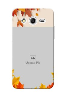 Samsung Galaxy Core 2 autumn maple leaves backdrop Design