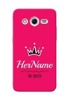 Galaxy Core 2 Queen Phone Case with Name