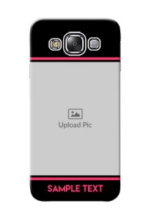 Samsung Galaxy E5 Photo With Text Mobile Case Design