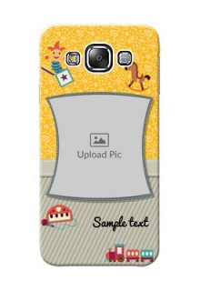Samsung Galaxy E5 Baby Picture Upload Mobile Cover Design