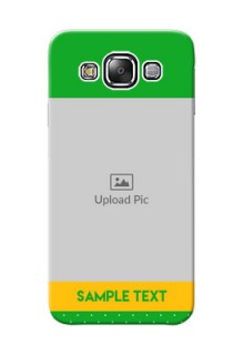 Samsung Galaxy E5 Green And Yellow Pattern Mobile Cover Design