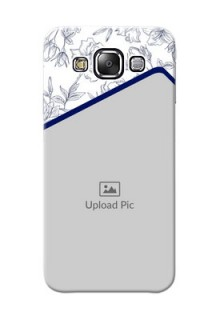 Samsung Galaxy E5 Floral Design Mobile Cover Design