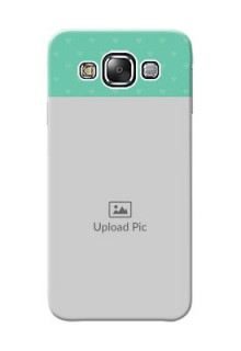 Samsung Galaxy E5 Lovers Picture Upload Mobile Cover Design