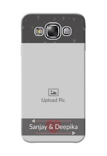 Samsung Galaxy E5 love design with heart Design