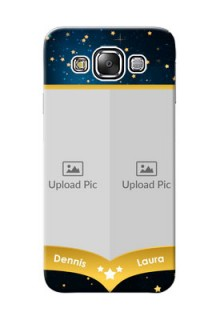 Samsung Galaxy E5 2 image holder with galaxy backdrop and stars  Design