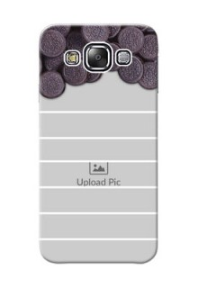 Samsung Galaxy E5 oreo biscuit pattern with white stripes Design Design