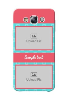 Samsung Galaxy E7 (2015) Pink And Blue Pattern Mobile Case Design